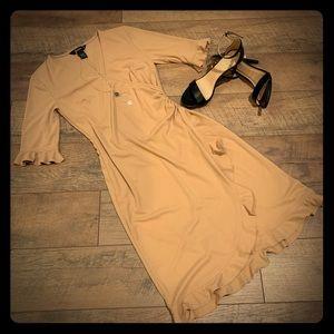 Express Caramel Color Dress Size 3/4